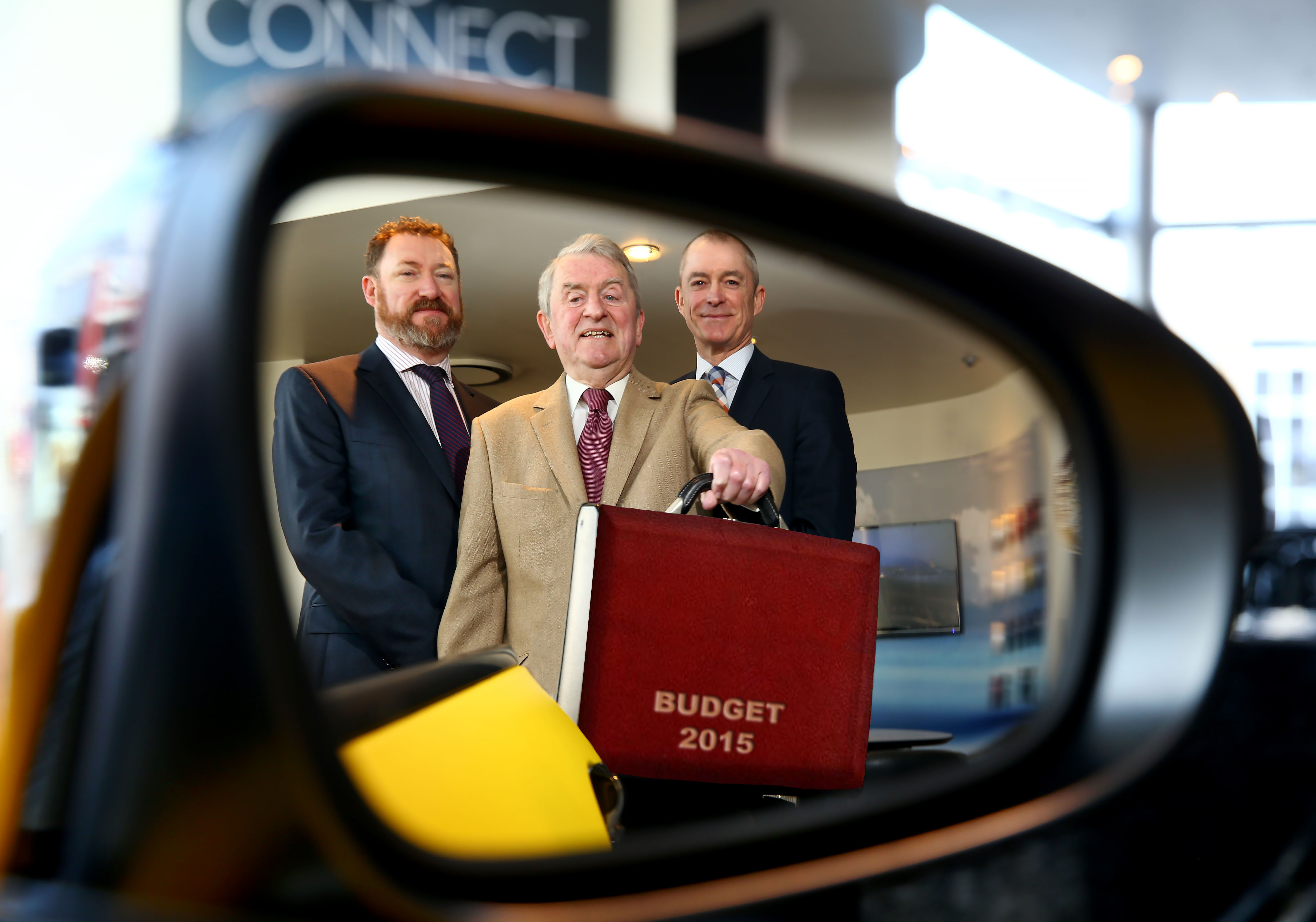 Budget Briefing presenters Paul O'Connor, John Simpson and Philip Miley