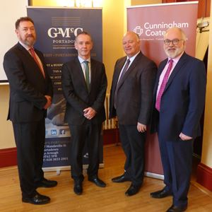 Paul O'Connor (GMcG), David Currie (Cunningham Coates), David Simpson MP, Adrian Farrell (Chamber President).jpg
